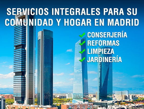 Empresa de conserjes, reformas, limipeza y jardinería en Madrid